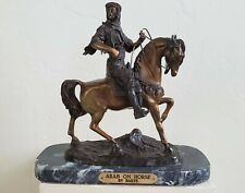 """""""Arab on Horse"""" Bronze sculpture by Barye ~ Signed 7 out of 75 ~ 11"""" Tall"""