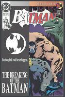 Batman #497 Near Mint Breaking of Batman Bane Knightfall 11 DC Comics 1993 CBX28