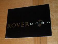 Rover 2000 Brochure 1963-1964