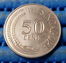 1982 Singapore 50 Cents Lion Fish Coin