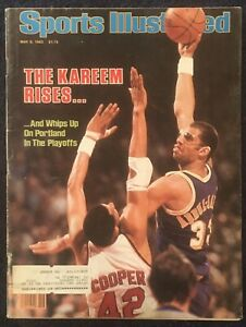 5.9.1983 KAREEM ABDUL-JABBAR Sports Illustrated LOS ANGELES LAKERS Vintage