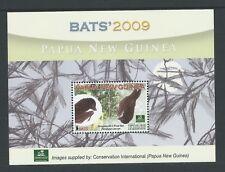 2009 PAPUA NEW GUINEA BATS CONSERVATION INTERNATIONAL K10 MINISHEET MINT MNH