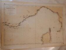 Carte marine Mer Méditerranée - Côtes de France et d'Italie