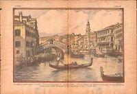 Gondola Canal Grande Venise Canałasso Canalazzo Venice Venezia 1934 ILLUSTRATION
