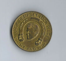 Vintage! JACK DEMPSEY Fight And Win Lucky TOKEN Coin Universal MOVIE Boxing 1924