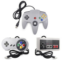 Classic Wired 64 Bit N64 SNES NES USB Controller Joypad for PC/Mac/Linux US