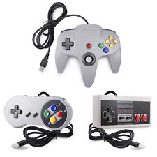 For PC/Mac/Linux N64 SNES NES USB Controller Joypad Classic Wired 64 Bit US Ship