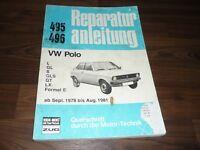 VW Polo I 1978-1981 Motor Getriebe Fahrwerk Elektrik WERKSTATT HANDBUCH
