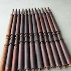 """12 ANTIQUE WOODEN STAIR RAIL TURNED SPINDLES BALUSTERS VICTORIAN STYLE 31"""""""