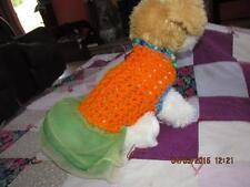 Dog Apparel ORANGE MERMAIDDress w/FLUFFY SKIRT Ruffles XXS