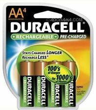 Duracell DX1500 AA 2000 mAh NiMH Rechargeable Batteries - 4 Count