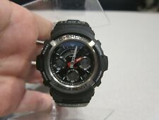 Casio G-Shock Watch 4778 Black AW590 Digital Analog Steel Silver Case