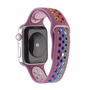 Watch Uhrenarmband 40mm / 38mm Rainbow Sport Watchband (lila)