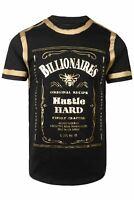Men's Hipster Hip Hop Jack Daniel Whiskey Gold Foil Print T-Shirt (3 Colors) NEW