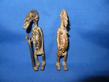 Superb Antique African Bronze Sculpture Man & Woman Dogon Tribal Est 400 Yrs Old
