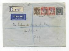 Singapore REGISTERED AIRMAIL COVER TO Iraq 1938