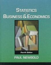 Statistics for Business and Economics (4th Edition) Newbold, Paul Hardcover
