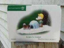 DEPT 56 NORTH POLE VILLAGE Accessory AN IGLOO FOR SNOWBALL NIB