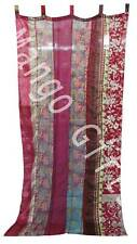 Indian Old Sari Multi-color Curtain Door Drape Window Decor Silk Curtain Pairs