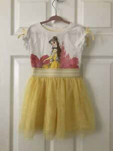Disney Princess Toddler Girls Size 3T Beauty And The Beast, Belle Dress