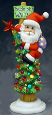 Ceramic Bisque Ready to Paint Rudoph Wait Santa  base clipin light, star, lights