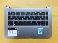 "HP 14"" 14-AF110NR Genuine Palmrest w/Touchpad Keyboard Speakers 813915-001 YJT*"