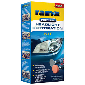 Rain-X PREMIUM HEADLIGHT RESTORATION KIT • PROFESSIONAL GRADE RESULTS Deep Clean