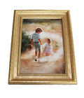"""Country Walk by Donald Zolan Mini Lithograph Framed 9"""" X 7"""" Numbered Issued 1993"""