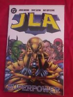 DC JLA Superpower Graphic Novel 1999 1st Print Justice League of America tpb NM