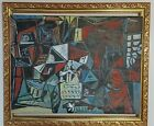 PABLO PICASSO ARTIST OIL PAINTING ON CANVAS SIGNED NOT FRAME