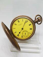 Vintage full hunter Waltham mass pocket watch working