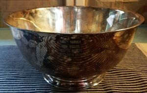 """Vintage Oneida Silver Paul Revere Reproduction Large Bowl 10"""" Silver Plated"""