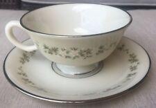 Lenox Brookdale Tea Cup & Saucer Set(s) Platinum Trim Mint