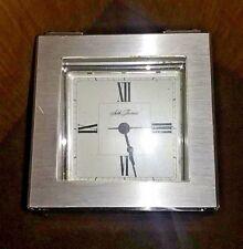 Old Vtg Antique Seth Thomas Wood Brass Desk Mantle Clock Baxter 2-E USA WORKS