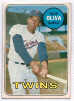 1969 TOPPS #600 TONY OLIVA MINNESOTA TWINS MLB BASEBALL