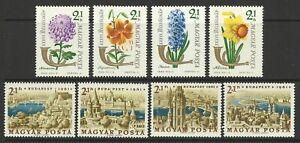 HUNGARY 1961 / 63 STAMP DAY BUDPEST / FLOWERS SETS MINT