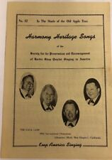 Sheet Music Barbershop Harmony Heritage Songs In The Shade Of The Old Apple EP29