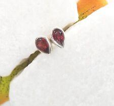 Granat, red rot, edel elegant modern Ohrringe Ohrstecker 925 Sterling Silber neu