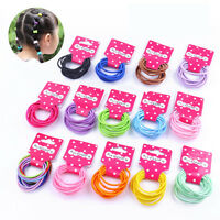 30 PCS New Endless Snag Free Hair Elastics Bobbles Bands Pony Tails 19 Colour