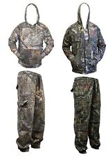 Mens Real Tree Jungle Print Camo Camouflage Tracksuit Top Jacket Hoodie + Bottom