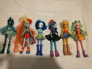 My Little Pony Equestria Girl Dolls 9 Inch Lot Of 6 Hasbro With Clothes, Shoes