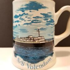 SS Volendam Holland America Ocean Liner Ship Mug Stein -E