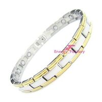 Unisex Gold Plated Gauss Magnetic Energy Health Bracelet Ladies Wristband