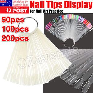 Nail Polish Colour Display Wheel Chart Ring Sticks Tips Swatch false fake Nails