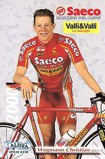 CYCLISME carte cycliste WEGMANN CHRISTIAN équipe SAECO 2000
