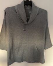 Style&Co Sport Women's Grey 3/4 Sleeve Cowl Neck Stretch Knit Top Size PL NWT
