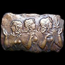Cretan Minoan Dancing Girls sculpture plaque relief in Bronze Finish