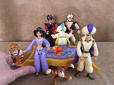 Lg Jointed Aladdin Playset carpet Jasmine Princess Disney action figure lot