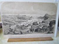 "Vintage Print,SERASTOPOL & Fortifications,CRIMEAN WAR,1854, 9 5/8"" x 14 3/8"""
