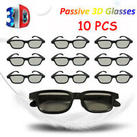 10x Universal Polarized 3D Glasses Home Cinema Passive Black For Cinemas X0M4